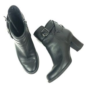 Clarks zip heeled ankle boots